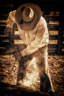 Laying on the iron | Cowboy Branding