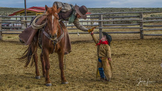 Pards | Cowboy and young cowboy High Five