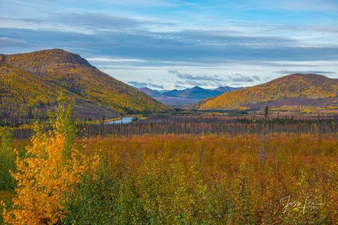 Autumn creeping in on the hills in Alaska's arctic.