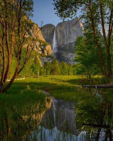 Yosemite Falls Reflecting