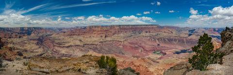 Panorama of the Grand Canyon in Arizona.