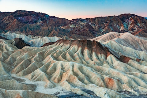 Colorful hills of Death Valley in California.