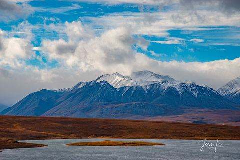 Brooks Range landscape showing off beautiful blue colors.