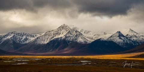 Storm brewing over the Brooks Range in Alaska