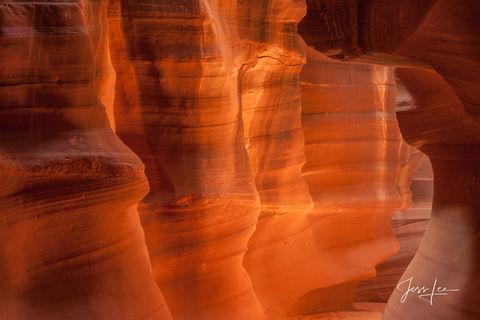 Inside of Antelope Canyon in Arizona.