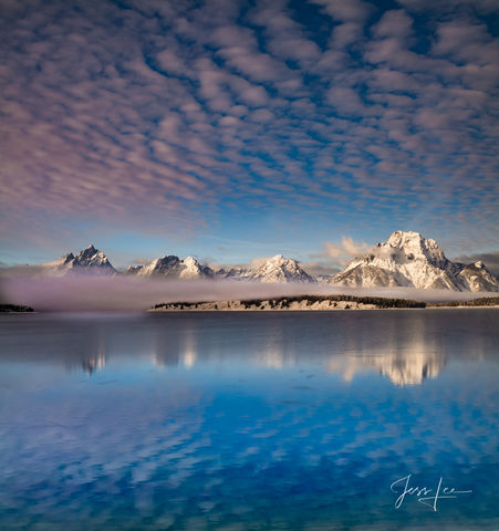 Patterns in the Sky   Teton Reflections