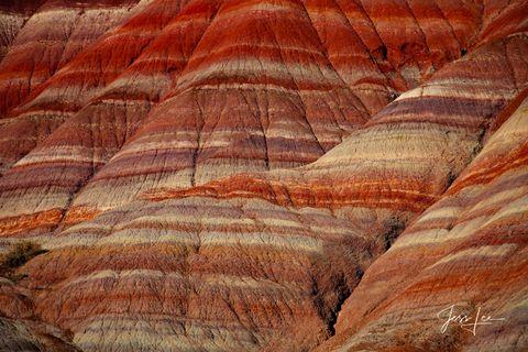 Sandstone patterns in Red Rocks country in Utah.