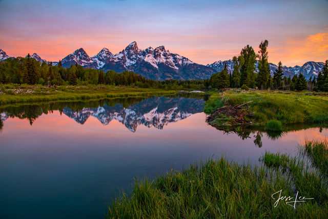 mountain photography, Tetons, alpenglow, grand Teton, national park, Wyoming, fine art, photography, jess lee, , artist, western, cowboy, photographer, limited edition, high quality, high resolution,