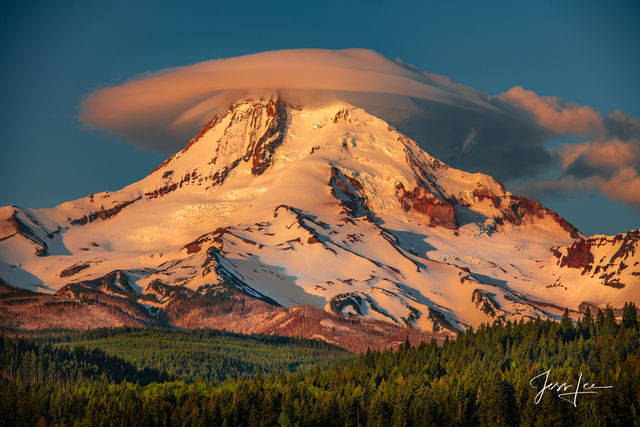 mountain photography, mount Hood, sunrise, clouds, Oregon, spring, Cascades, volcanic, Fine art, print, jess lee, artist, western, cowboy, photographer, limited edition, high quality, high resolution,