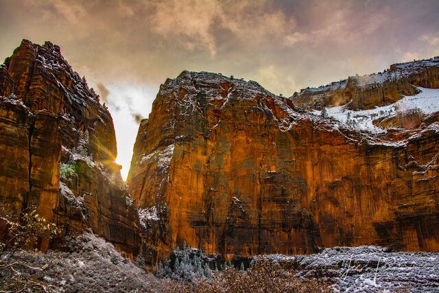Red Wall Sunset, Zion Canyon