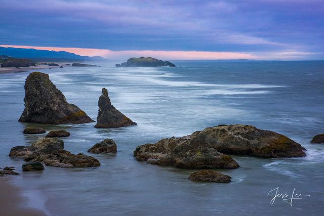 oregon, beach, ocean, fine art, trees, water,