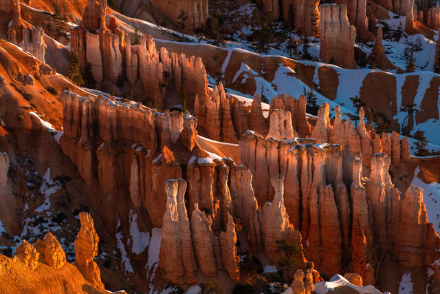 Maze of rock formations in Bryce Canyon National Park, Utah.