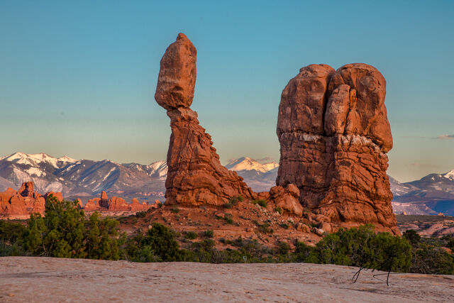 The balanced rock in Arches National Park