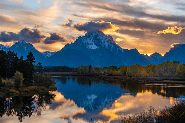 Oxbow Bend Sunset on the Snake River