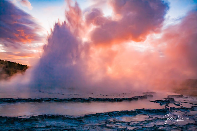 A Great Fountain Sunset