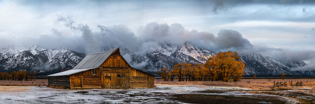 Grand Teton Barn After an Autumn Storm