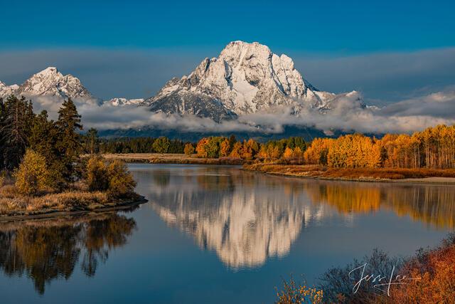 Teton Mountain Reflecting in the Snake River