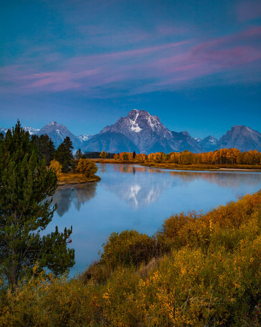 Mount Moran Reflecting in the Snake River Oxbow