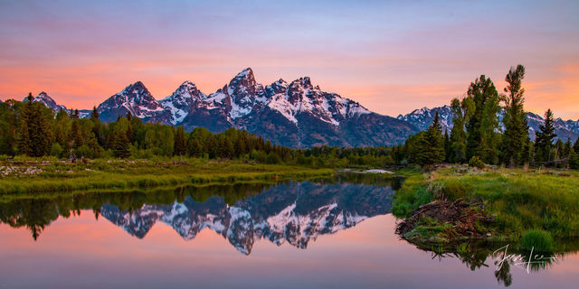 Teton Sunrise Reflecting in the Snake River