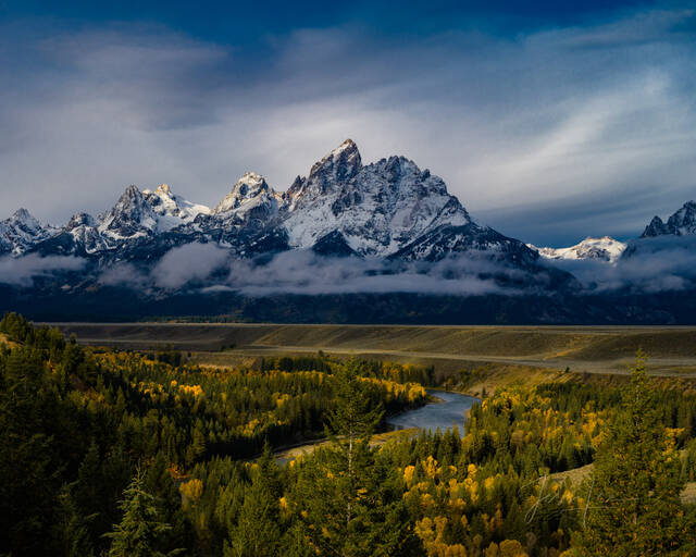 Teton Autumn breaking storm