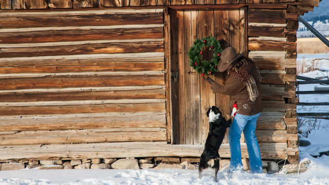 Yellowstone Winter Cowgirl
