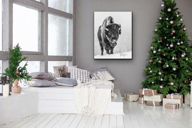 Christmas Bison