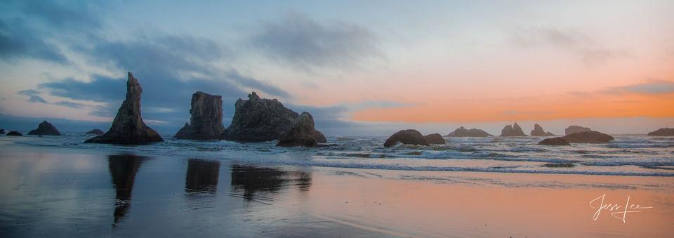 Seastacks, rock, western, beach, ocean, surf, water,