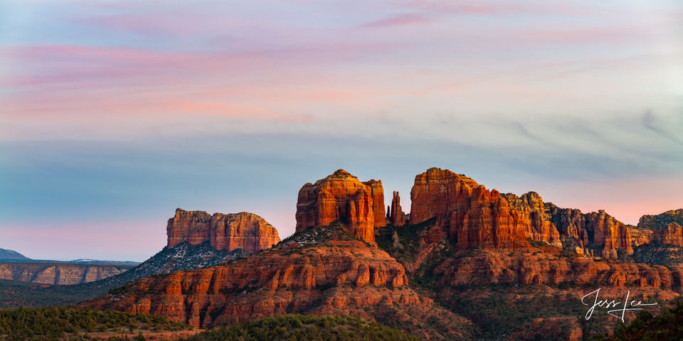 Cathedral Rocks Alpenglow