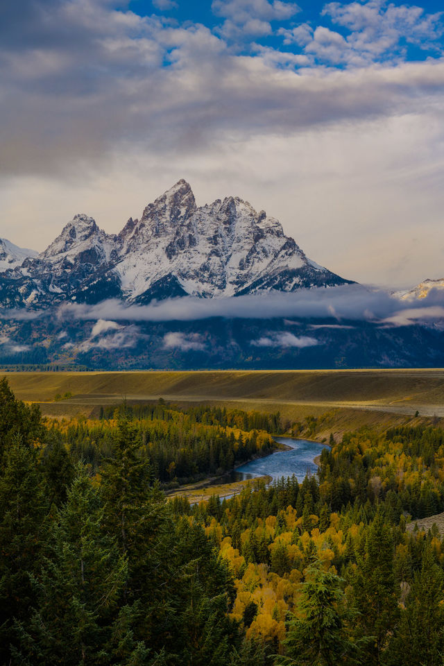 Snake River Over Look, Wyoming, snake river, grand teton, mountain, photo,