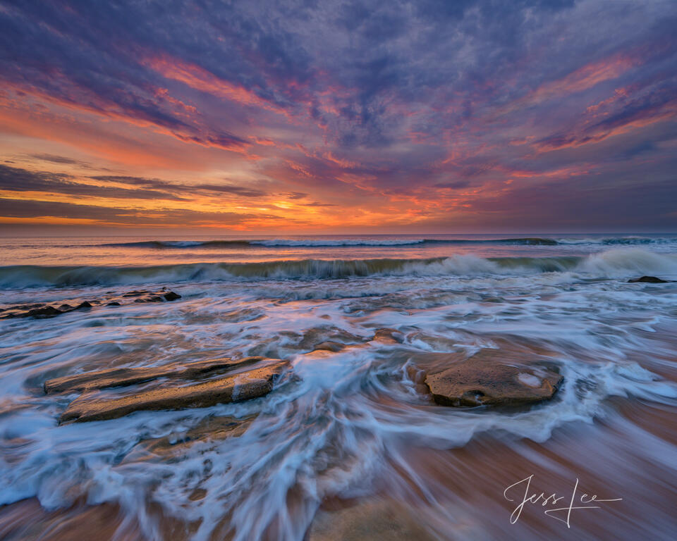 Summer sunrise on the Florida Coast.
