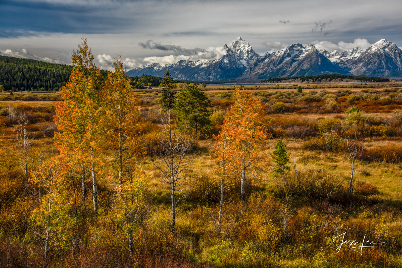 Fine Art Limited Edition of 200 Exclusive high-resolution Museum Quality Photography Prints of Autumn in the Tetons. To see more...
