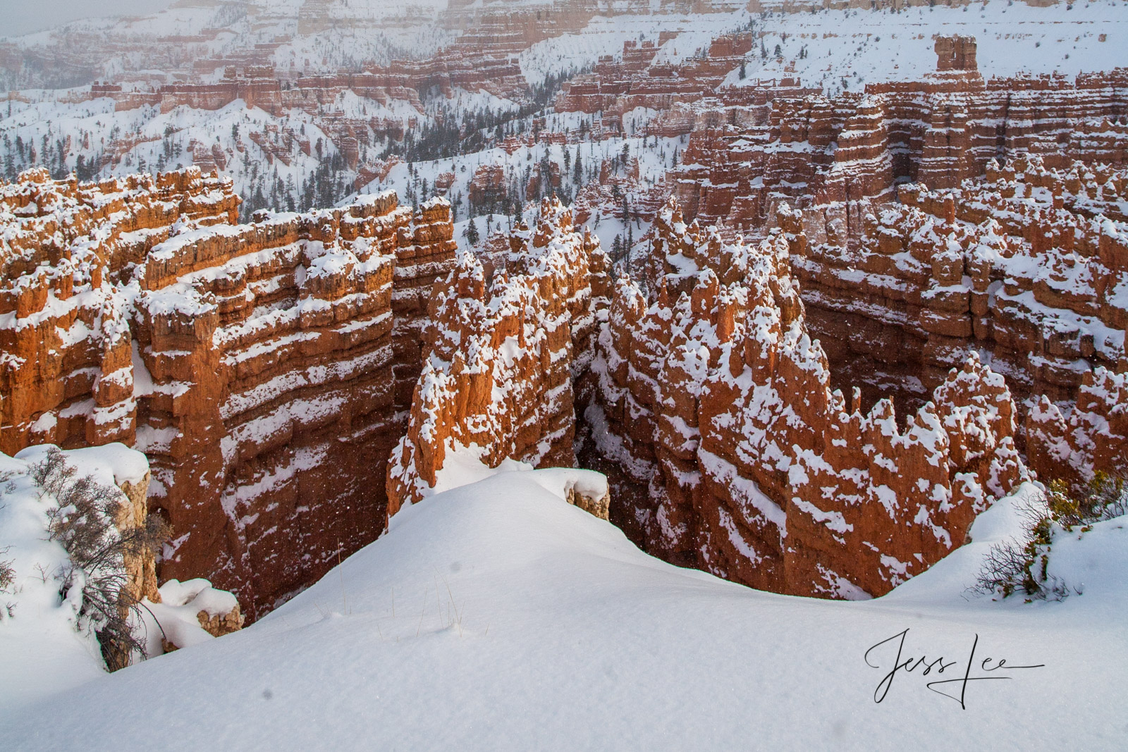Limited Edition of 50 Exclusive high-resolution Museum Quality Fine Art Prints of Red Rocks ridges Bryce Canyon. Photos Copyright...