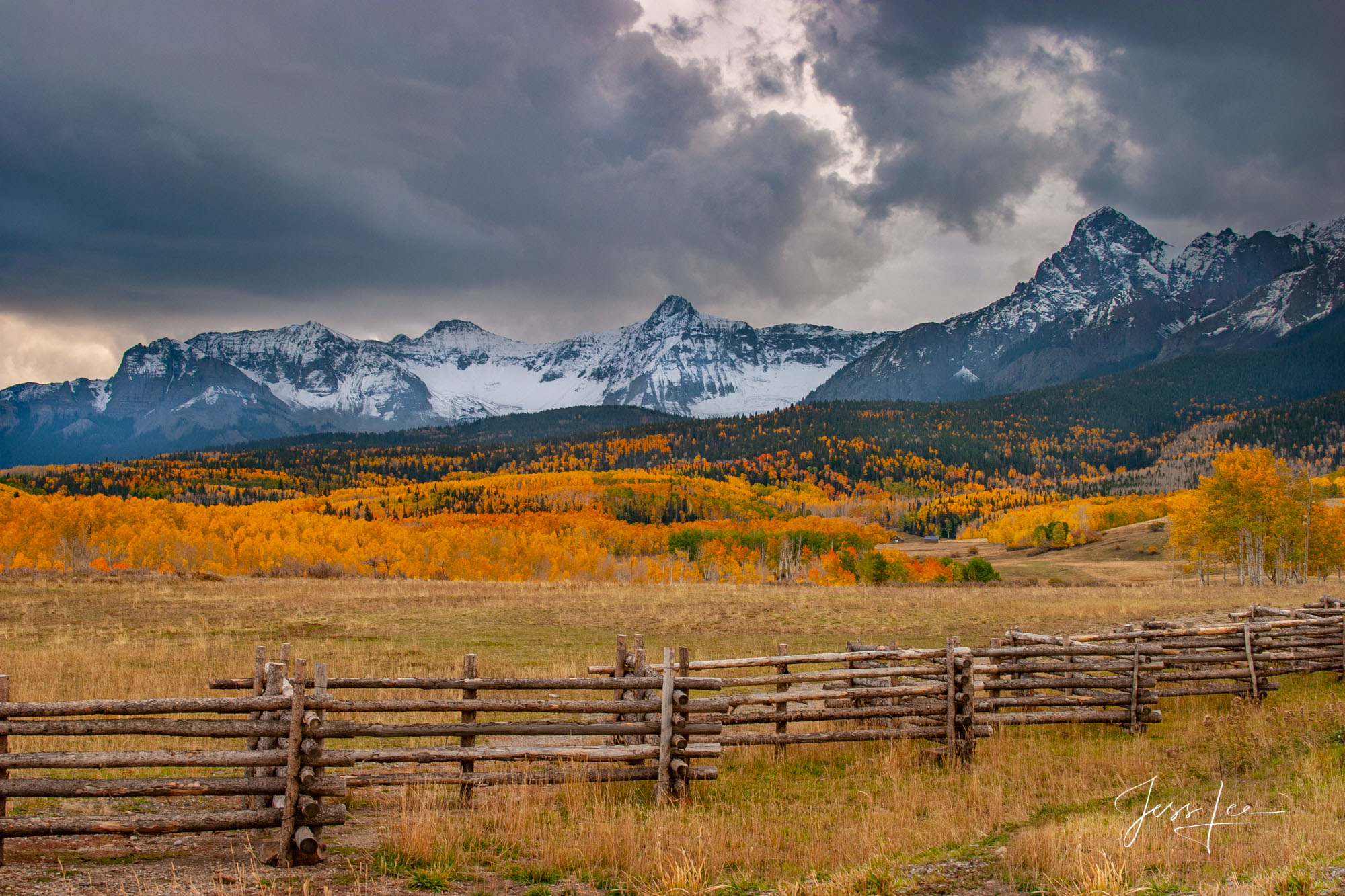 A Colorado Fall Color Print during the peak of Autumn Color in southeast Colorado. A limited Edition Fine Art print of 100 archival...