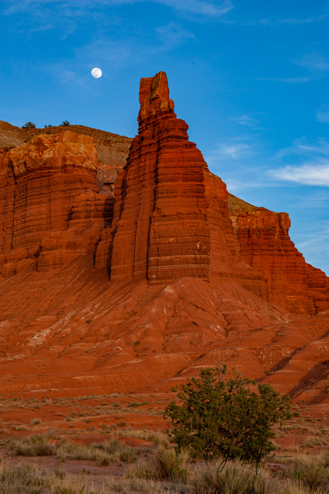 Limited Edition of 50 Fine Art Prints Tower Moon : Capitol Reef, San Rafael Swell and the Waterpocket Fold are some of the least...