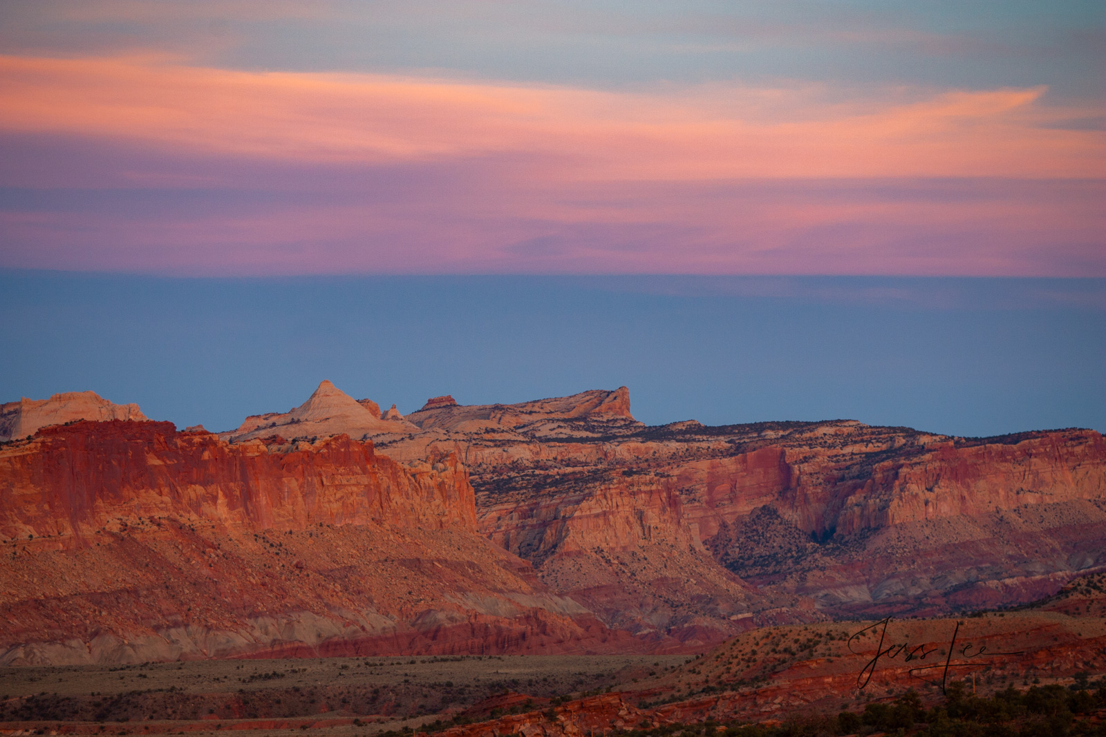 Magic Evening a Limited Edition of 50 Fine Art Prints Capitol Reef, San Rafael Swell and the Waterpocket Fold are some of the...