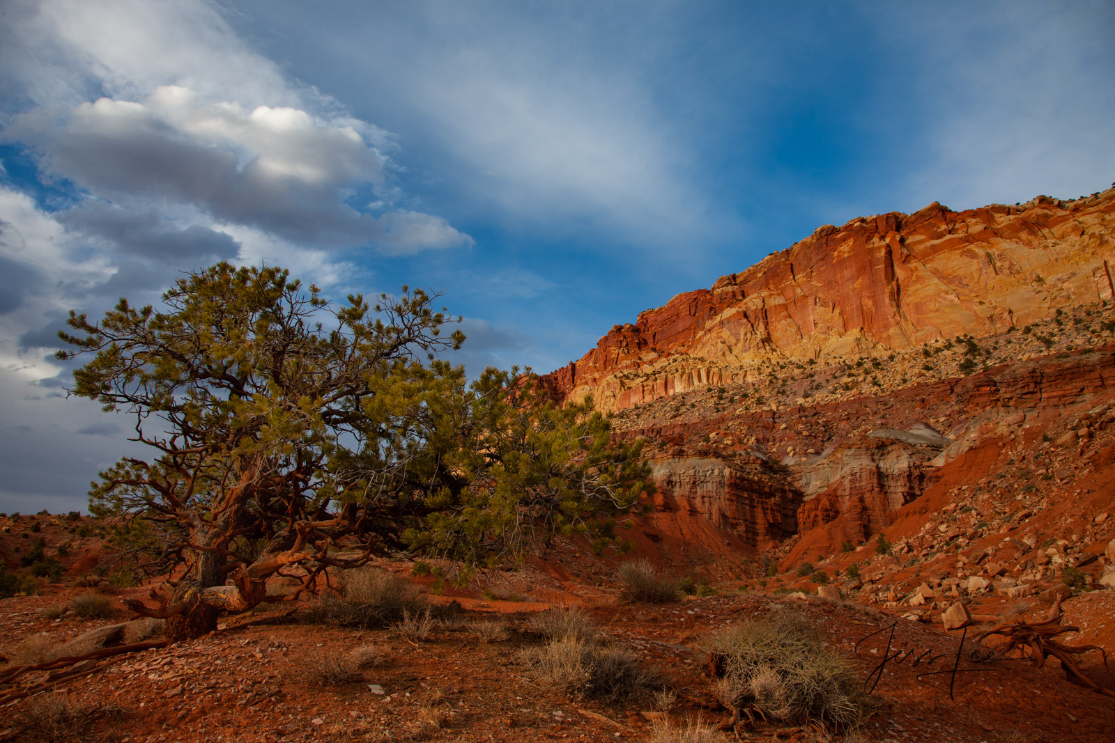 Balancing Act a Limited Edition of 50 Fine Art Prints Balancing Act: Capitol Reef, San Rafael Swell and the Waterpocket Fold...