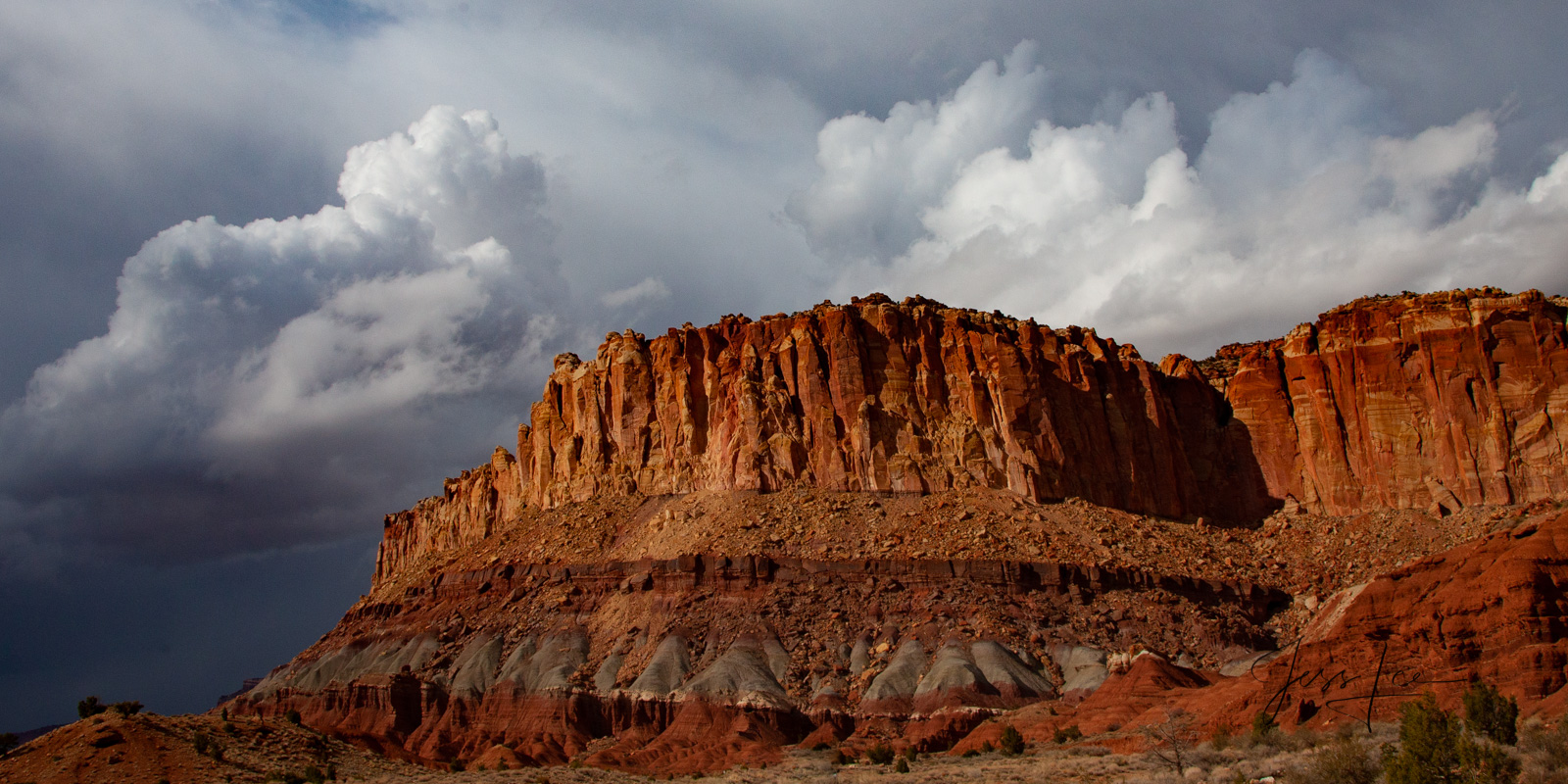 Puff Mesa a Limited Edition of 50 Fine Art Prints Puff Mesa : Capitol Reef, San Rafael Swell and the Waterpocket Fold are some...