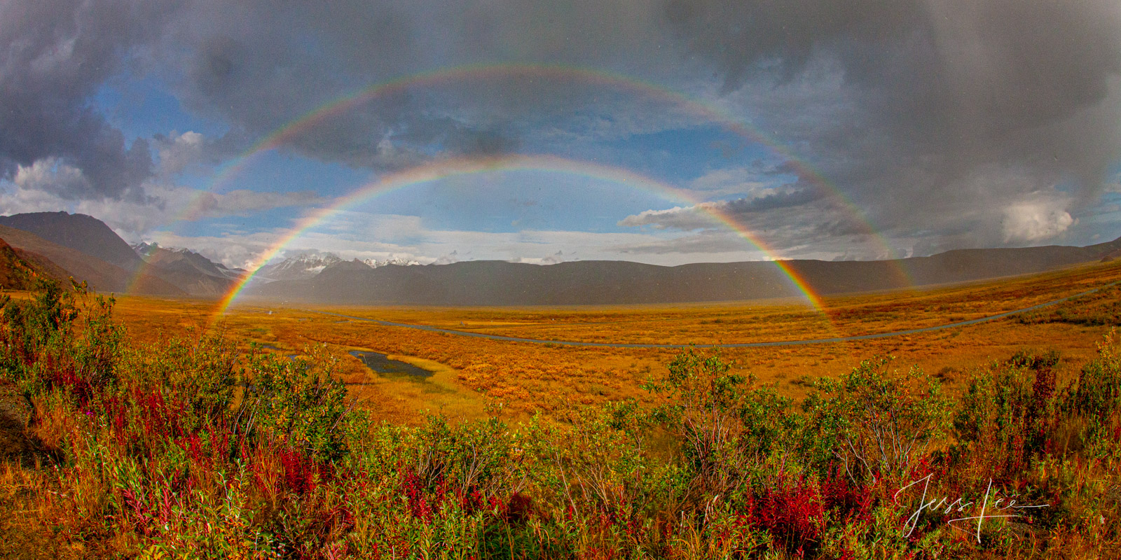 Double Rainbow a Fine Art Limited Edition of 250 Prints. Enjoy the beauty of this fabulous Alaska fall print. Order yours today...