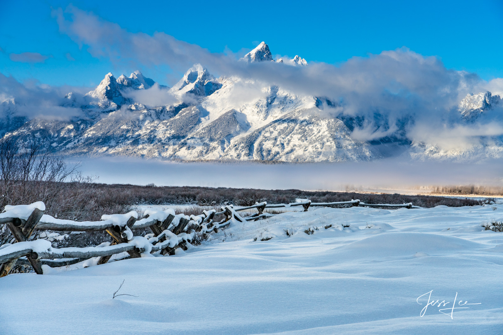 Limited Edition of 200 Grand Teton Fine Art Prints Teton Mountain Range in Winter. To see more Grand Teton Landscape Photography...