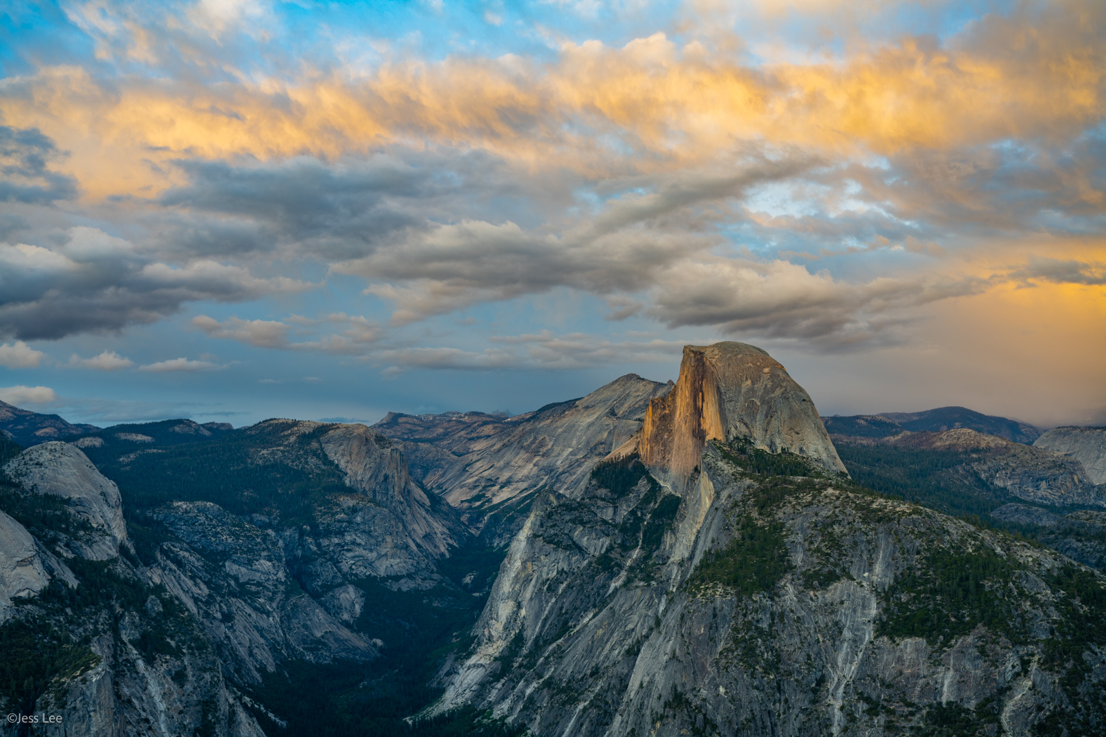 Fine Art Limited Edition Photography Print of Half Dome Sunset. California Landscape Print of Yosemite valley.This is part of...