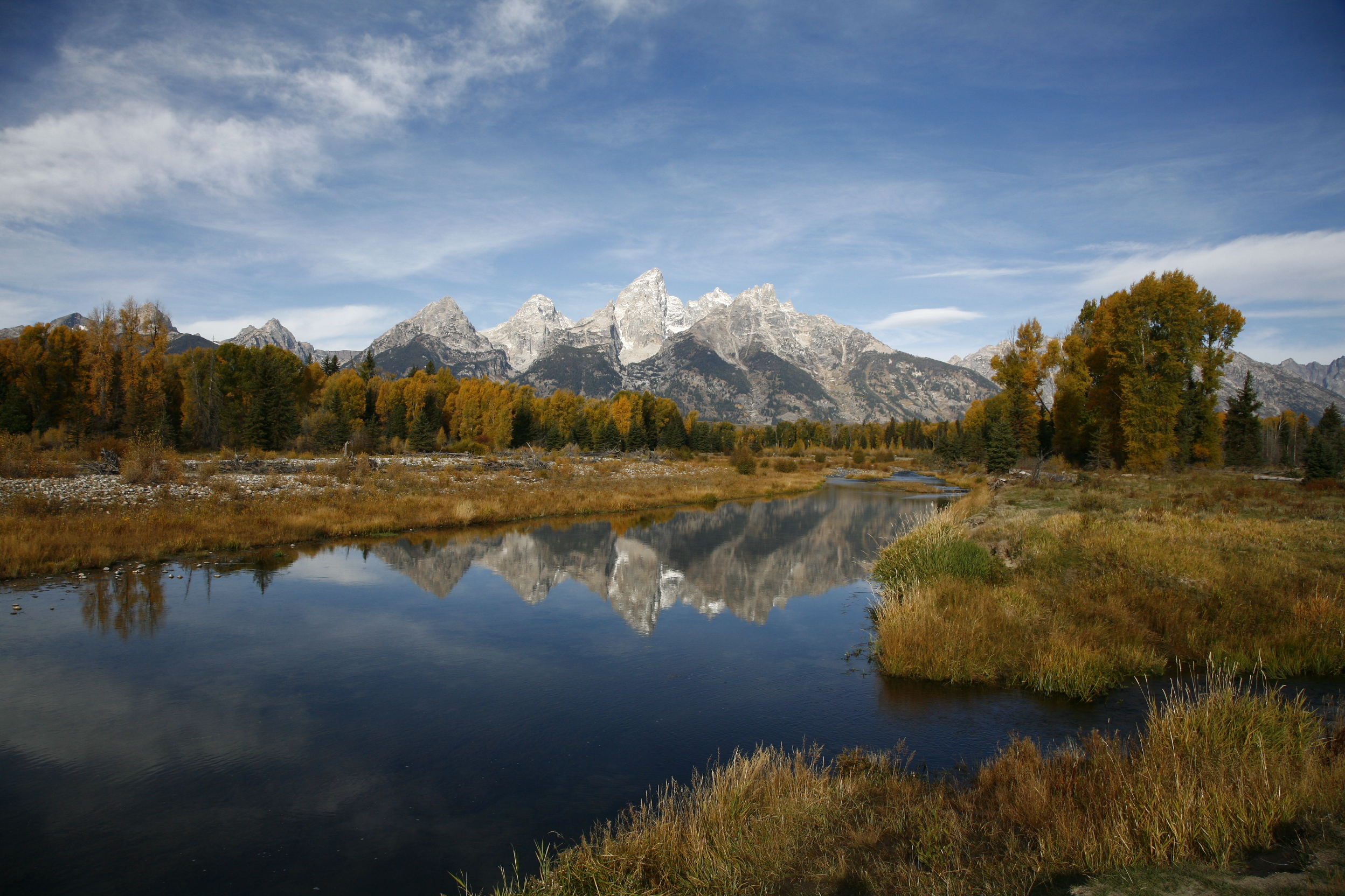 Fine Art Limited Edition of 200 Panorama Prints. Schwabacher's Landing is part of the backwater on the Snake River in Grand...