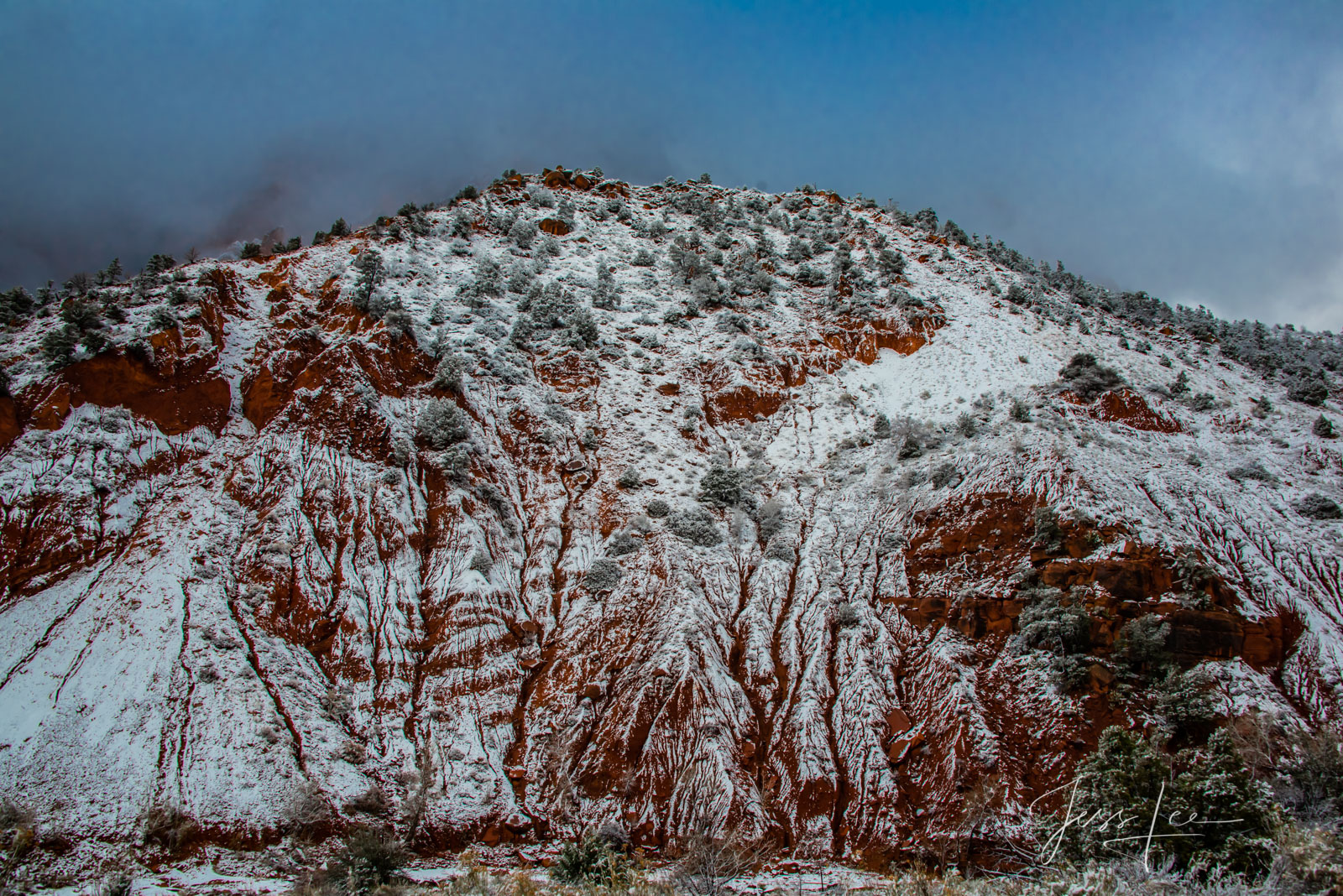 Limited Edition of 50 Exclusive high-resolution Museum Quality Fine Art Photography Prints of Red Rocks Country runoff  of  Zion...