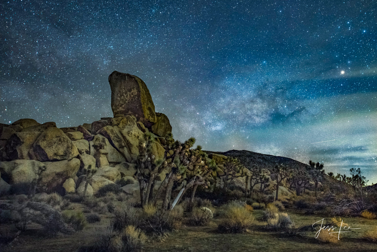 Limited Edition of 50 Exclusive high-resolution Museum Quality Fine Art Prints of the Night Sky at the Mojave Desert. Photos...