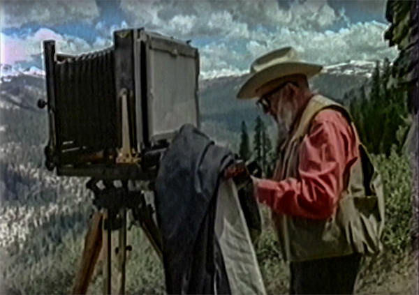 Ansel Adams with a large format camera
