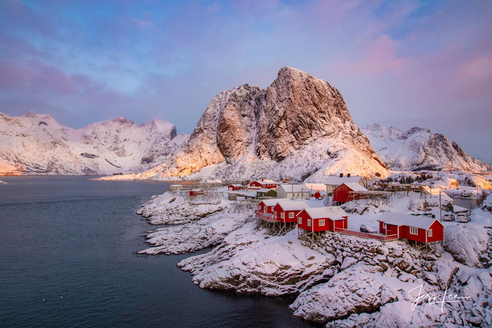 Sunrise in Lofoten, Norway