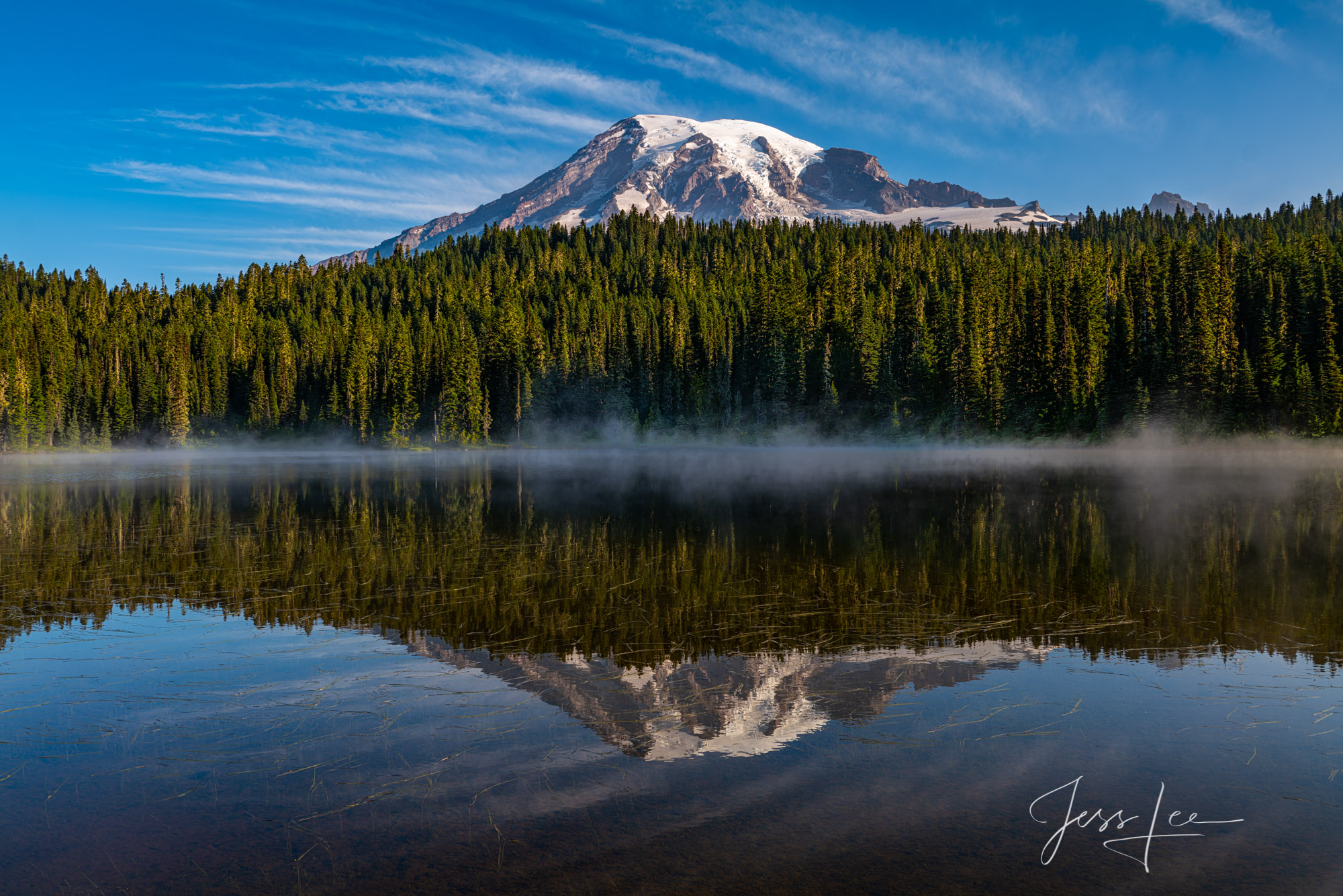 Beautify  your space  with Jess Lee's limited edition photography print, Rainier Reflection, from his Mount Rainier Gallery ....