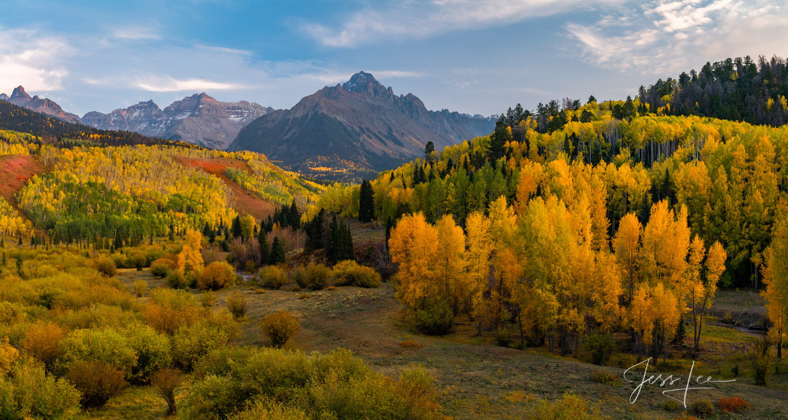 A Colorado Fall Color Print of the San Juan MountainsAutumn Glory during the peak of Autumn Color in southeast Colorado. A limited...