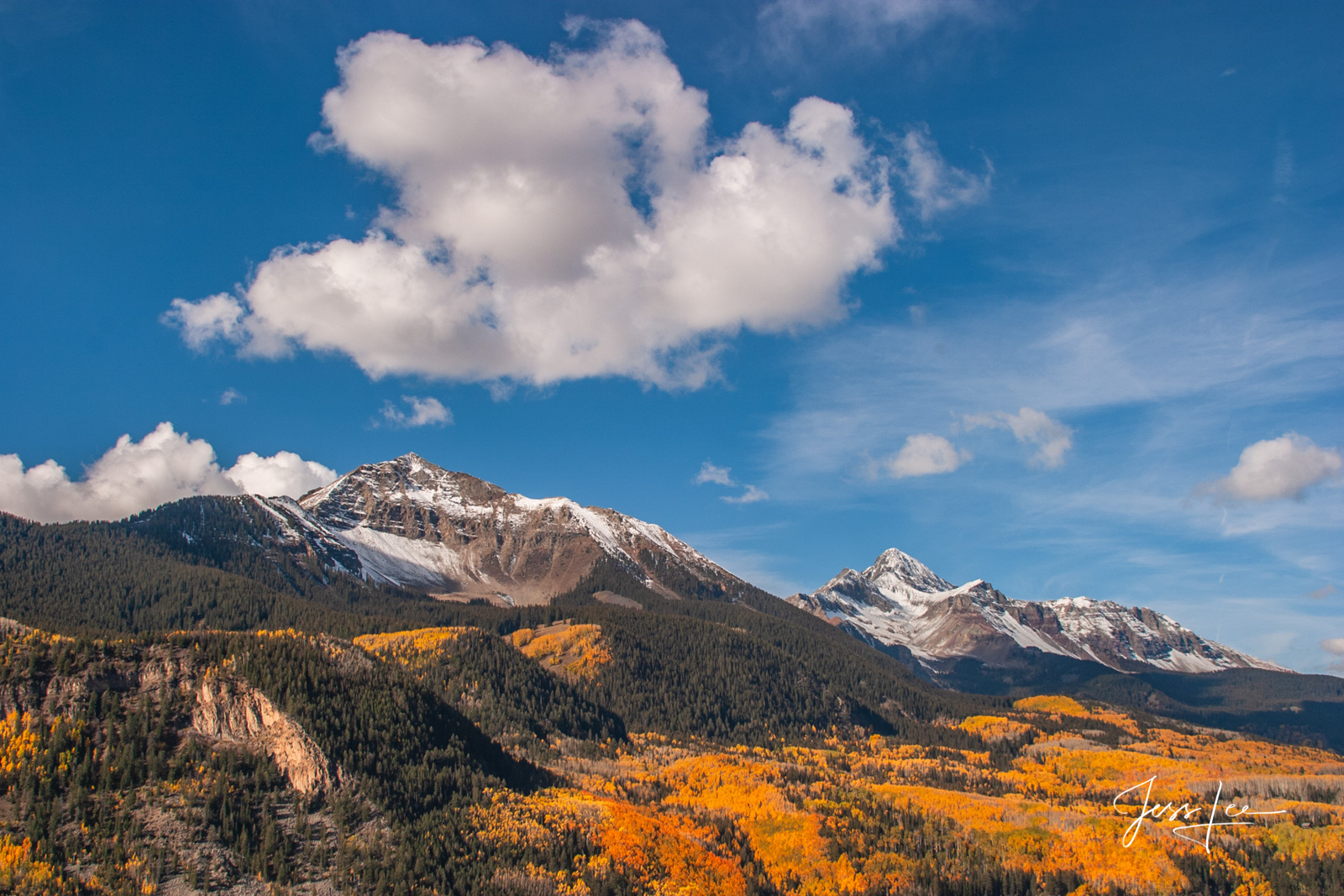 Fine Art Limited Edition of 60 Exclusive high-resolution Museum Quality  Photography Prints of San Juan Mountains in Fall.  To...