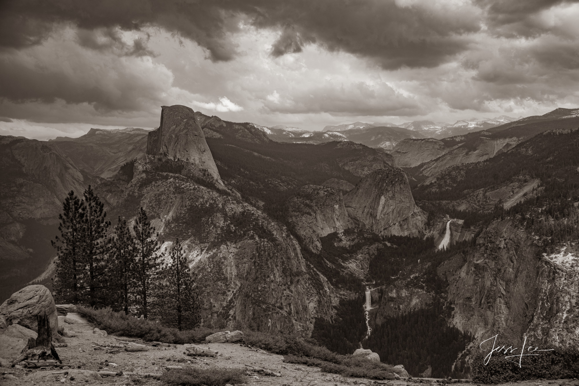 Fine Art Limited Edition Black and White Photographic Print of Yosemite.  California Landscape black and white print of Yosemite...