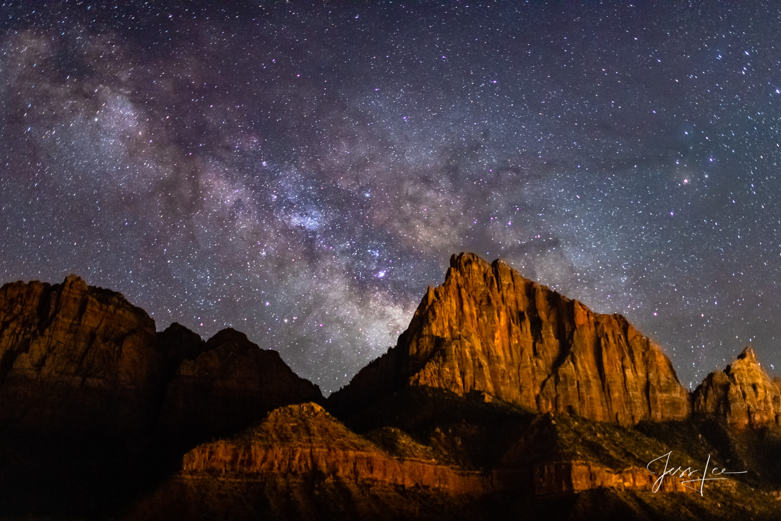 Limited Edition of 200 Exclusive high-resolution Museum Quality Fine Art Prints of the Night Sky at Zion. Photos copyright ©...